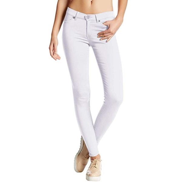 Kvinnor godis enfärgade skinny jeans damer
