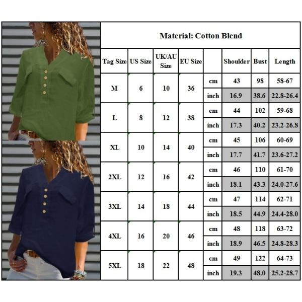 Kvinnors avslappnade skjorta med V-hals
