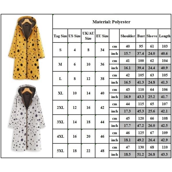 Kvinnor söt prickig lång luvtröja ull