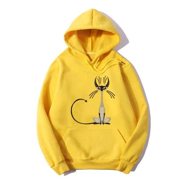 Women Hoodie Long Sleeve Jumper Ladies Sweatshirt Pullover Tops Yellow M