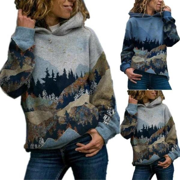 Hoodies för kvinnor Sweatshirt Pullover Långärmad T-shirt med huva