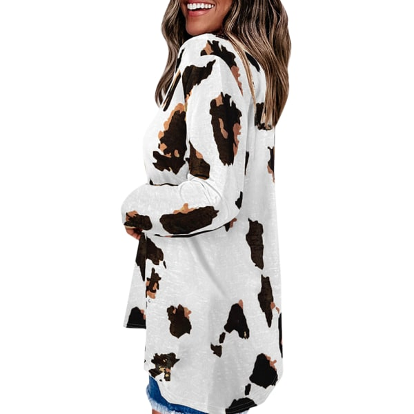 Långärmad, t-tröja med lång ärm för kvinnor white S
