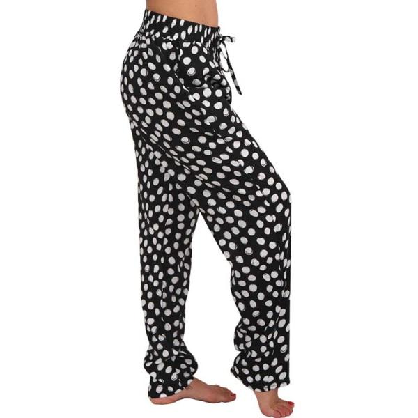 Byxor för vida kvinnor för lösa byxor prickiga byxor
