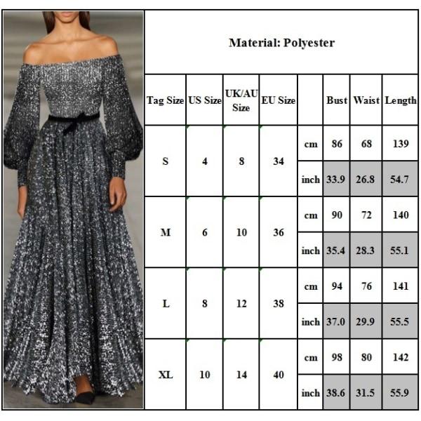 Kvinnor Sexig A Word Shoulder Dress