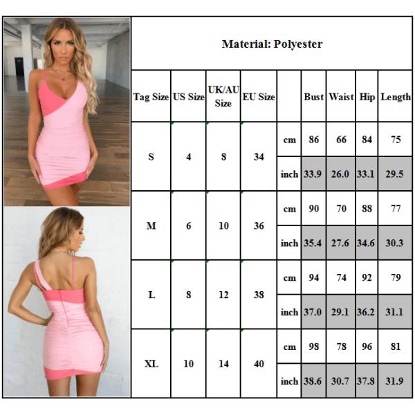 Kvinnors sexiga rygglösa klänning Bandage Slim Patchwork Dress