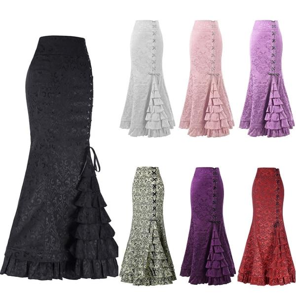 Kvinnors sexiga Fishtail midjeband kjol höft