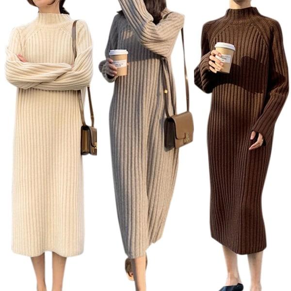 Kvinnors enfärgad långärmad tröja