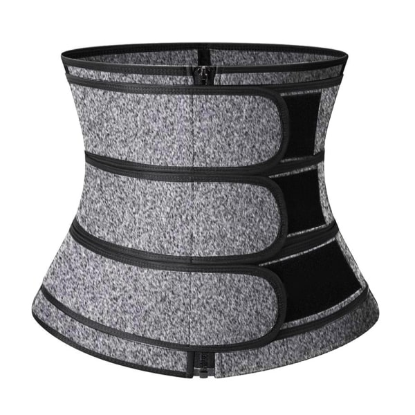 Kvinnor Bälte Midja Trainer Zip Three Slim Sports Body Shapewear grey 2XL