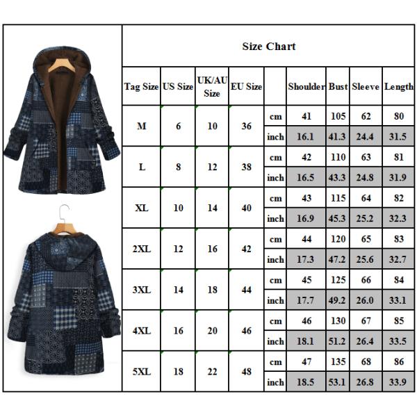 Women Zip Up Hooded Padded Winter Fashion Coat Plus Size Navy 3XL