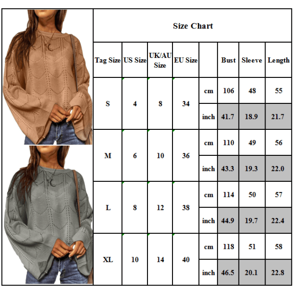 Kvinnors Plain Casual Stickad tröja damtröja höst