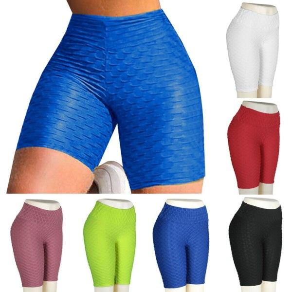 Womens Stretch Yoga Dancing Leggings Shorts Gym Slim Fit Hot White S