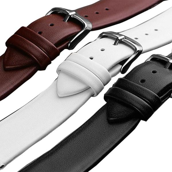 Ardours Klockarmband i PU-Läder (Smooth) i flertalet färger Svart 12mm