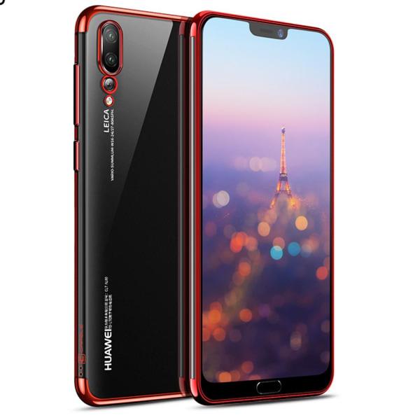 Effektfullt Skal av mjuk Silikon till Huawei P20 Pro Röd