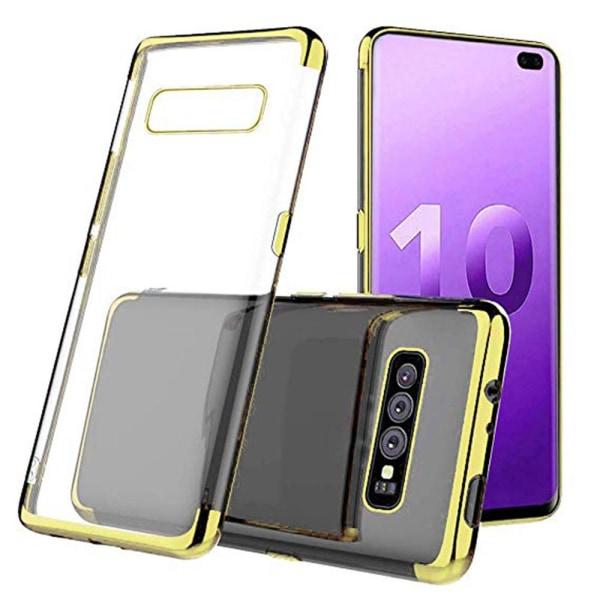 Effektfullt Skal av mjuk Silikon till Samsung Galaxy S10 Plus Svart