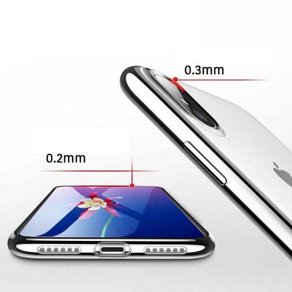 Electroplated Skal av mjuk Silikon till iPhone XS Max Blå