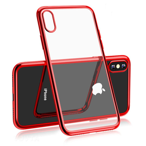 Electroplated Skal av mjuk Silikon till iPhone XS Max Guld