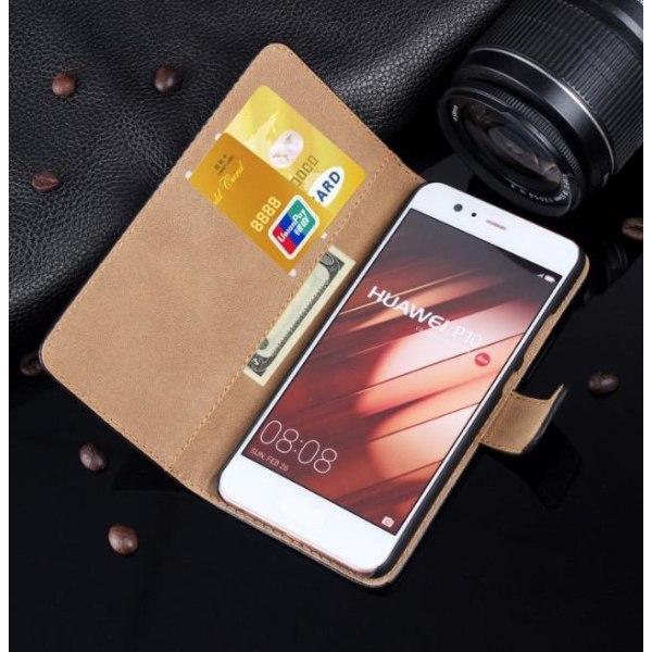 Huawei P10 Plus - Stilrent Plånboksfodral från TOMKAS (Läder) Grön