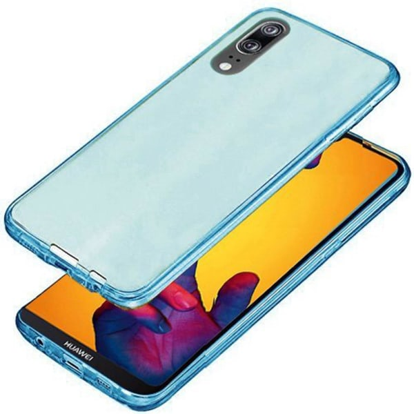 Huawei P20 Pro Dubbelsidigt silikonfodral med TOUCHFUNKTION Blå