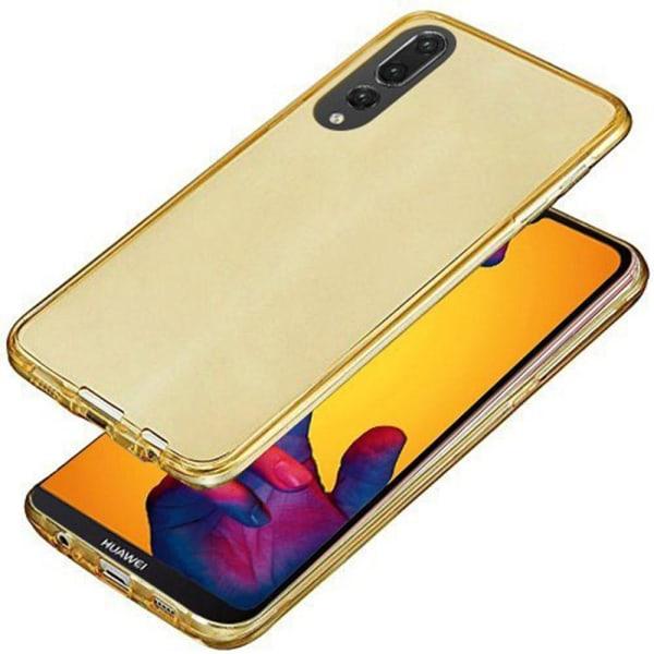 Huawei P20 Pro Dubbelsidigt silikonfodral med TOUCHFUNKTION Guld