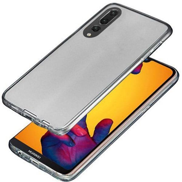 Huawei P20 Pro Dubbelsidigt silikonfodral med TOUCHFUNKTION Svart