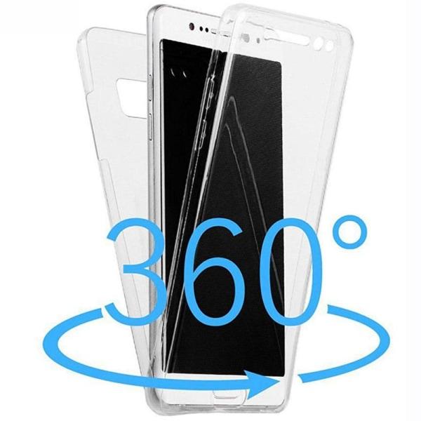 Huawei P20 Pro Dubbelsidigt silikonfodral med TOUCHFUNKTION Transparent/Genomskinlig