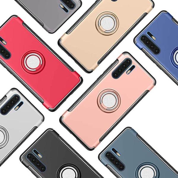 Huawei P30 Pro - Praktiskt Stilsäkert Skal Ringhållare (FLOVEME) Svart