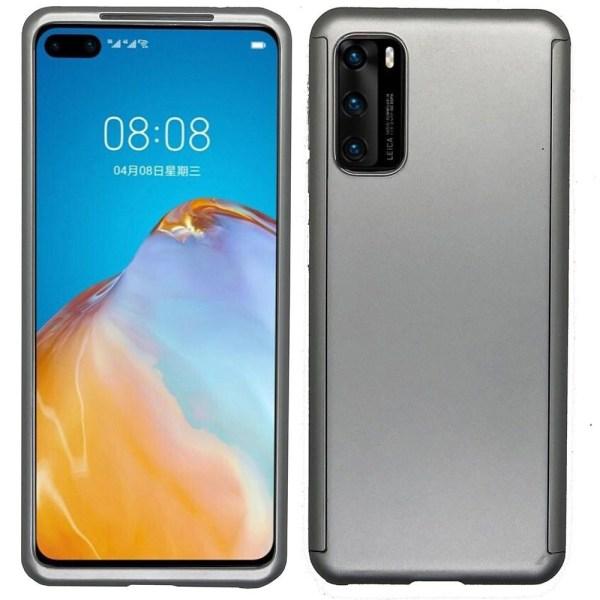 Huawei P40 - Skyddande Dubbelskal (FLOVEME) Silver