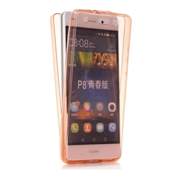 Huawei P9 - Dubbelsidigt Silikonfodral med TOUCHFUNKTION Genomskinlig