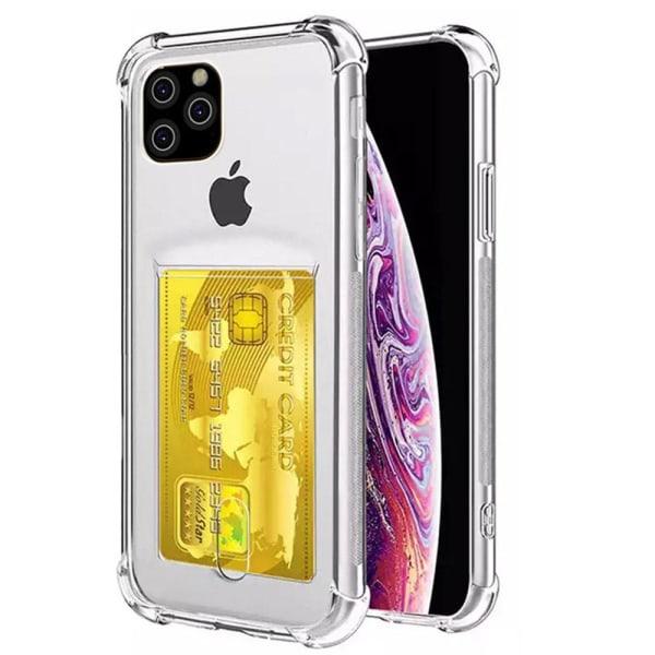 iPhone 11 Pro Max - Skyddande Silikonskal med Kortfack (FLOVEME)