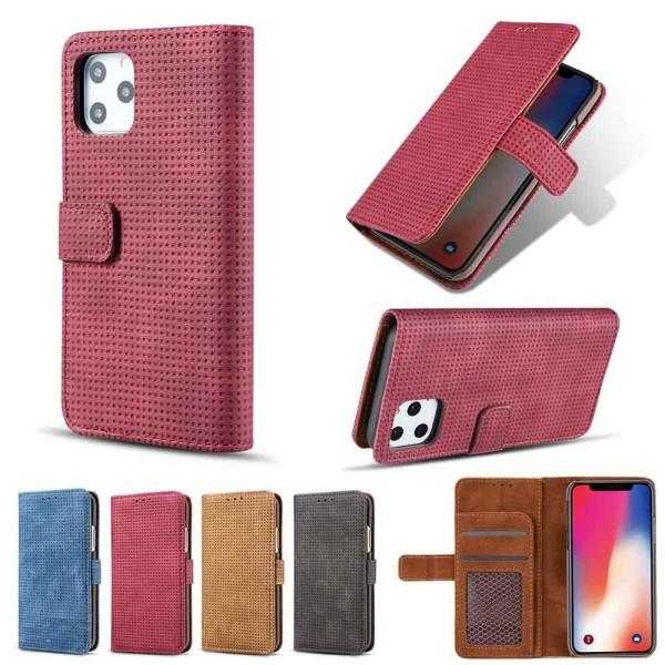 iPhone 11 Pro - Praktiskt Retro Plånboksfodral (LEMAN) Röd