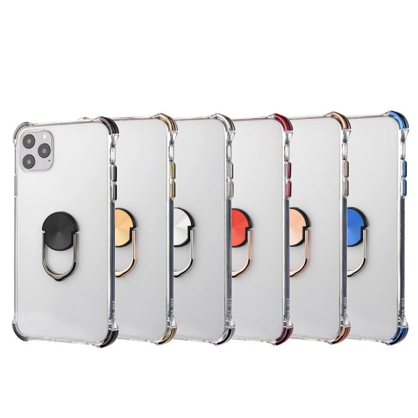 iPhone 11 Pro - Praktiskt Skyddsskal med Ringhållare Röd