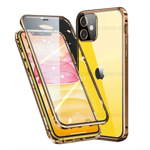 iPhone 12 Mini - Smidigt Magnetiskt Dubbelskal Röd