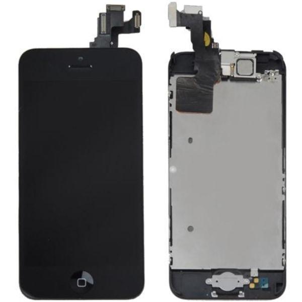 iPhone 5C - Skärm LCD Display Med smådelar (SVART)