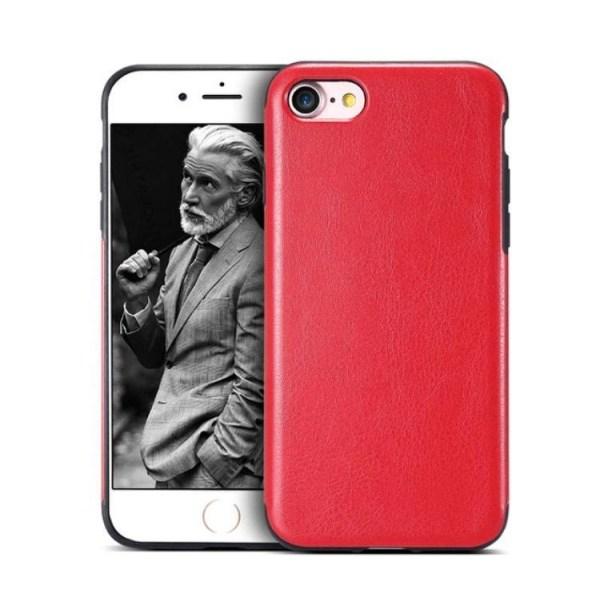 iPhone 6/6s plus  Retro Vintage läder skal Smooth  Crazy Horse Rosa