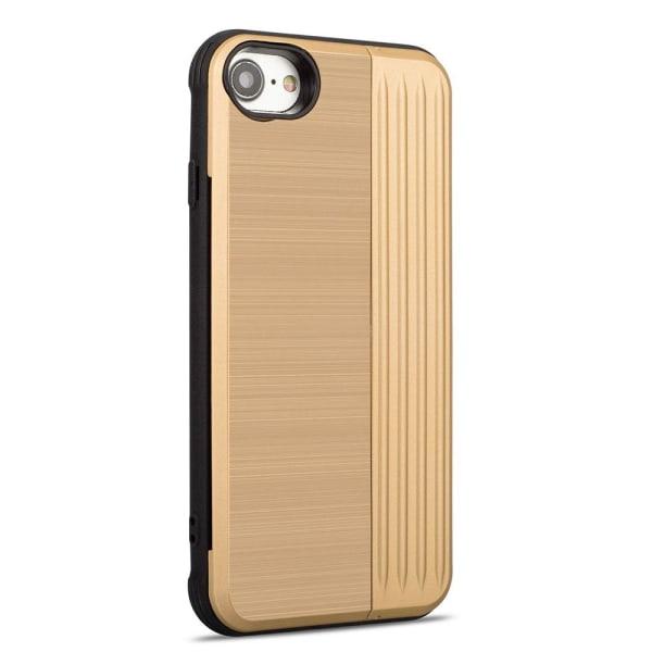 Klassiskt Skal med korthållare från LEMAN - iPhone 8 Guld