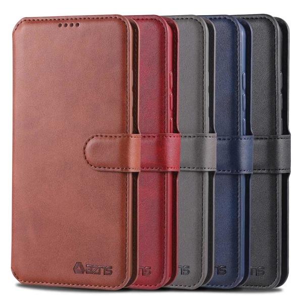 Samsung Galaxy A20E - Stilrent Plånboksfodral (AZNS) Röd