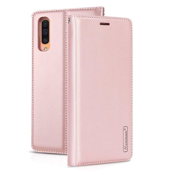 Samsung Galaxy A50 - Kraftfullt Elegant Plånboksfodral Roséguld