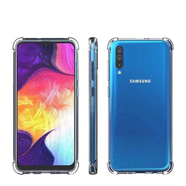 Samsung Galaxy A50 - Stötdämpande (Tjocka Hörn) Silikonskal Transparent/Genomskinlig