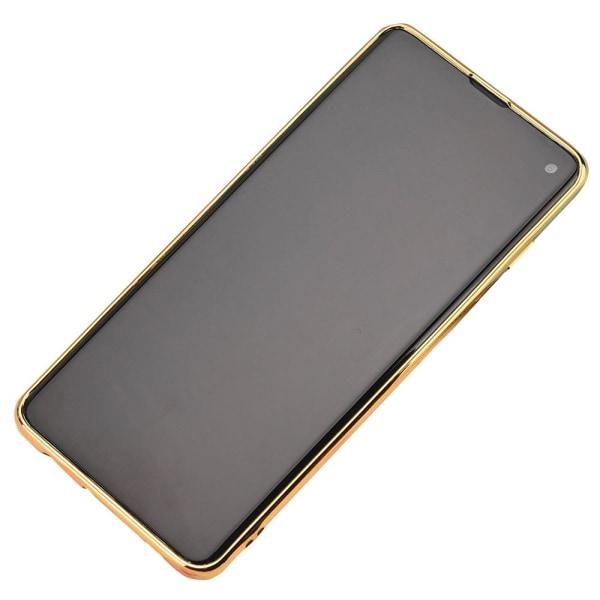 Samsung Galaxy S10 Plus - Skyddande Skal med Ringhållare Silver