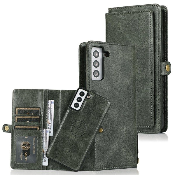 Samsung Galaxy S21 Plus - 2-1 Plånboksfodral Mörkgrön