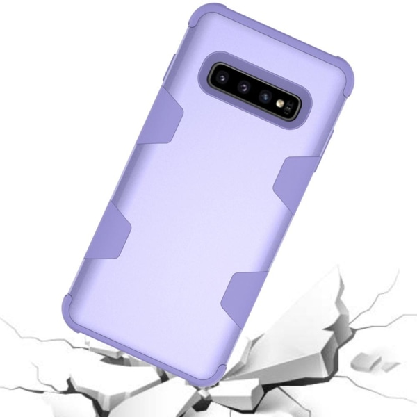 """Samsung S10 Plus - Praktiskt och Skyddande Skal """"Rugged Robot"""" Roséguld"""