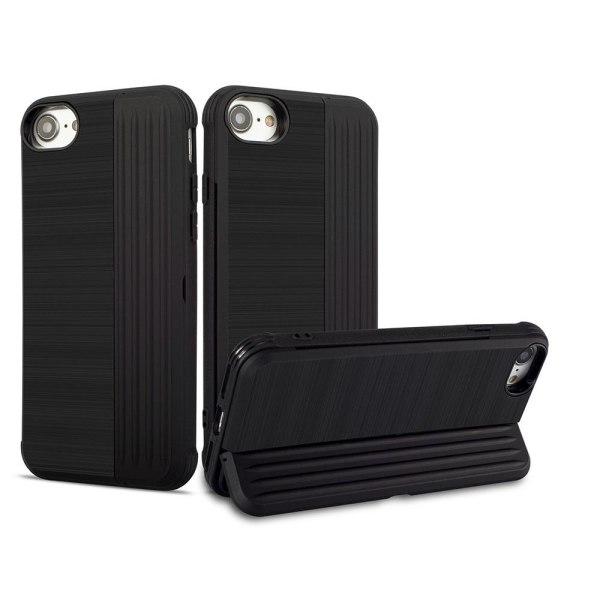 Skal med Korthållare LEMAN - iPhone SE 2020 Silver