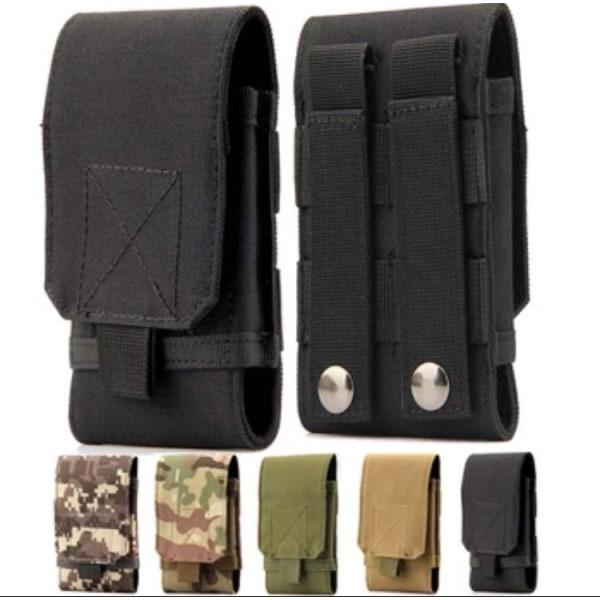 Slitstark Bältesväska för mobiltelefoner (Stl L/XL) Grå Kamouflage