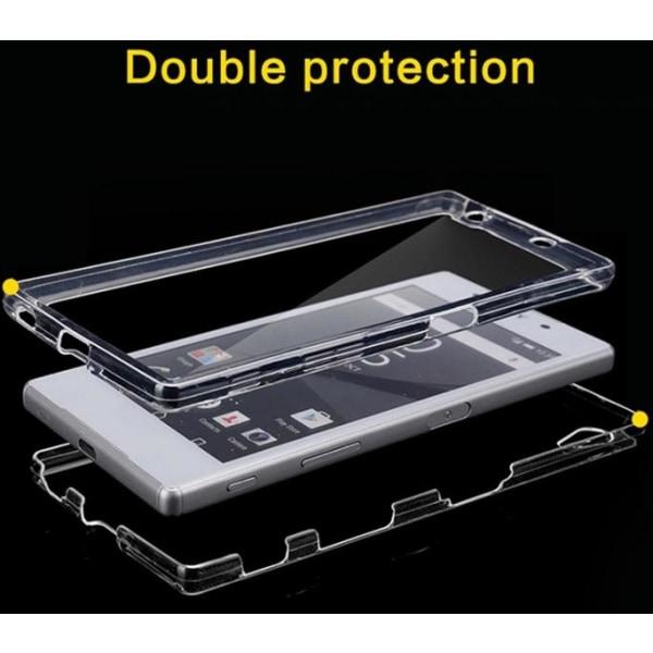 Sony Xperia Z5 - Dubbelsidigt silikonfodral med TOUCHFUNKTION Svart