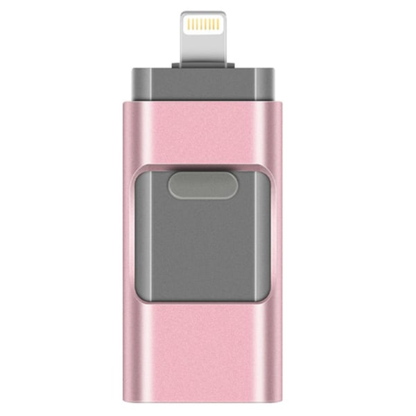 USB/Lightning Minne - Flash (Spara ner allt från telefonen!) Svart