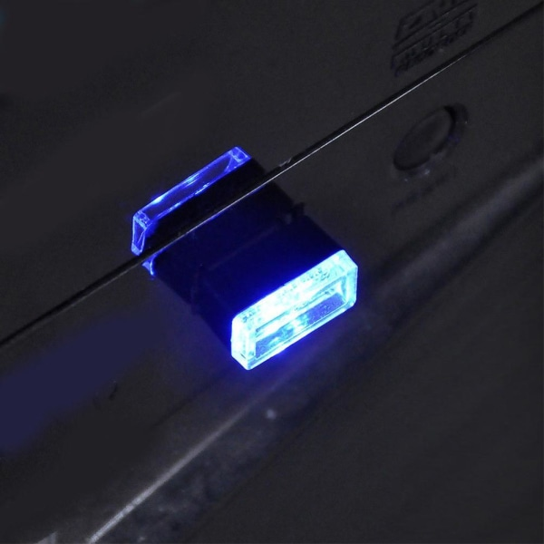 7 färger Mini LED-bilbelysning Auto Interiör USB Atmosfärsljus P