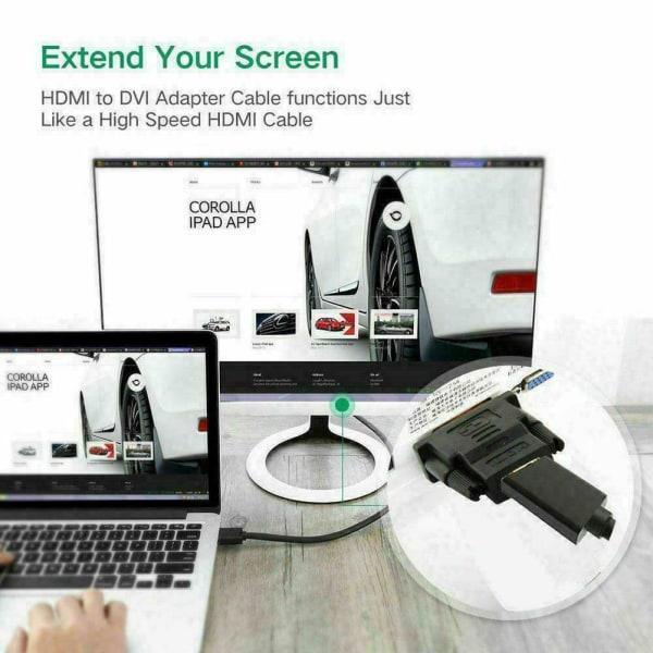DVI D hane till HDMI hona HD HDTV-skärmkontakt
