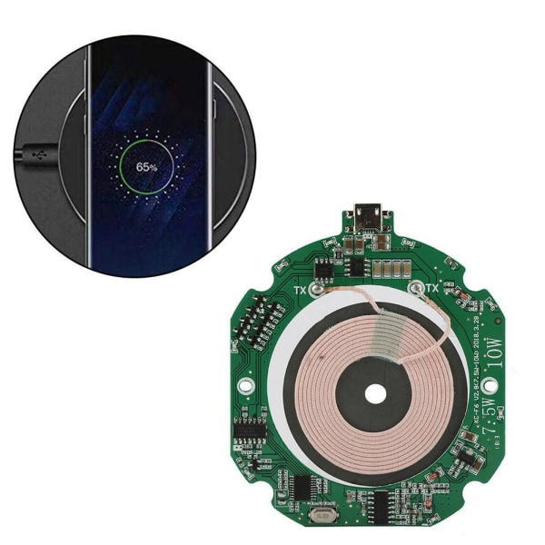 Qi Wireless Charger Charging Transmitter Module Large Diy Coil 5