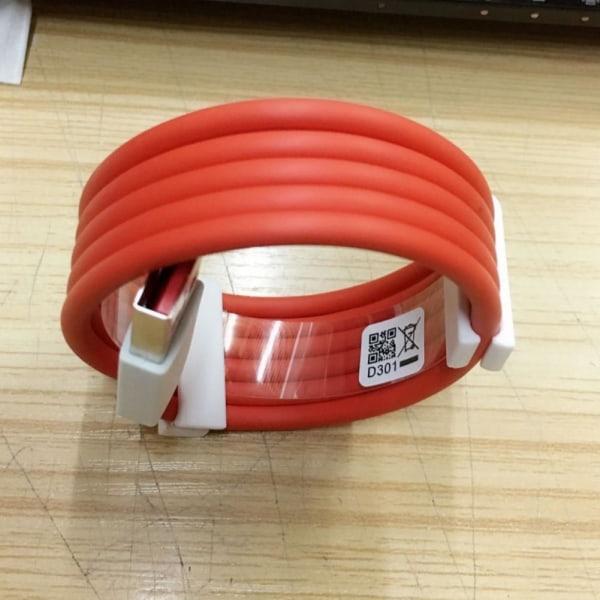 Typ C-kabel One Plus 6-laddare USB Fast Dash Charging 30/100/15
