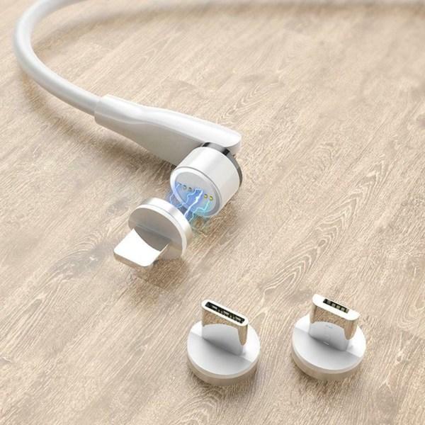 Typ C Micro USB-kontakt 540 graders rotation magnetisk
